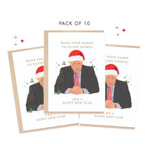 PACK OF 10 | Funny Boris Johnson Wash Ya Hands Card | A6 Size