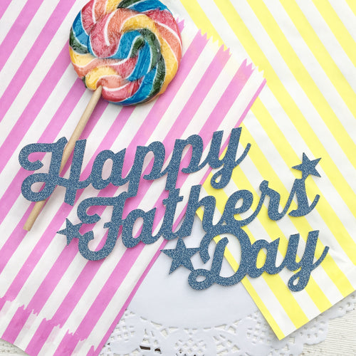 Happy Fathers Day Cake Topper Free 3x Star Cup Cake Toppers