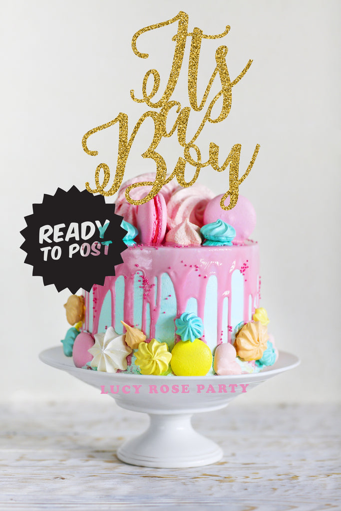 Its a Boy Cake Topper – Lucy Rose Party