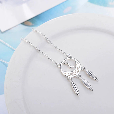 925 SS Dream Catcher Necklace2