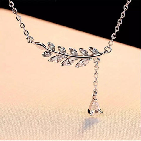925 SS Leaf Necklace