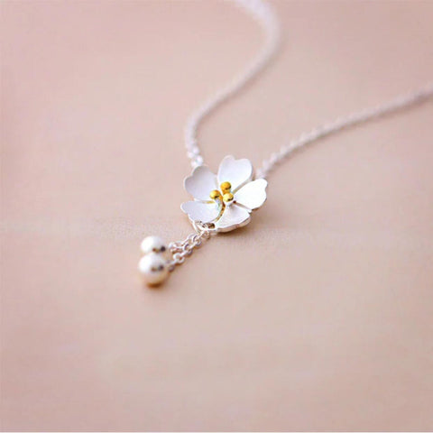 925 SS Lovers Flower Necklace2