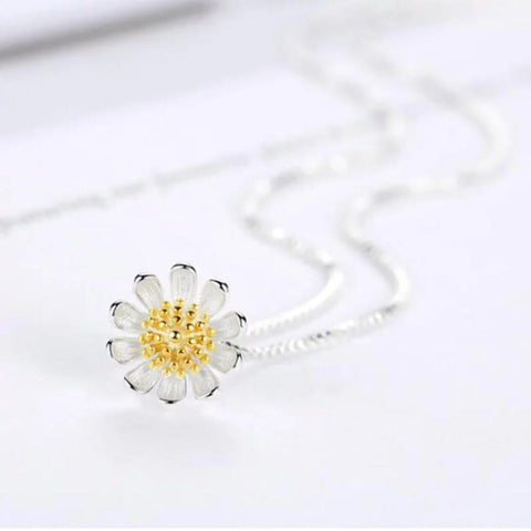925 SS Lovers Flower Necklace