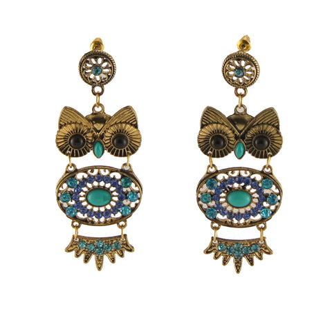 Exotic Owl Earring