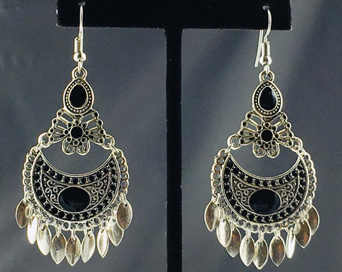 Boho Black Earring