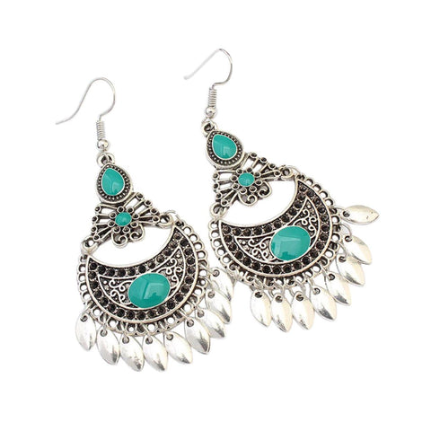 Boho Green Earring