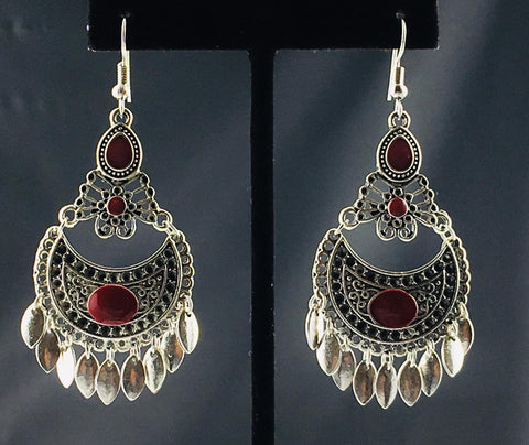 Boho Red Earring