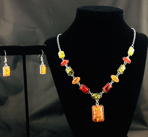 Colorful World Necklace Set