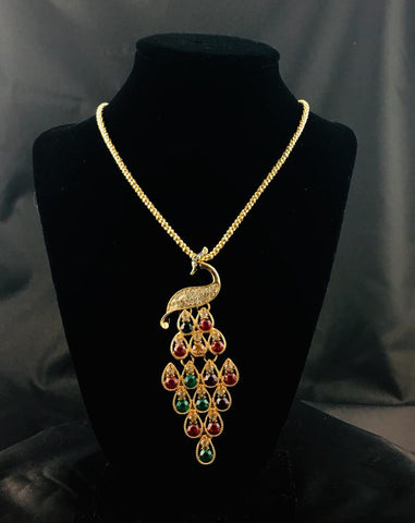 Cute Peacock Pendant Necklace