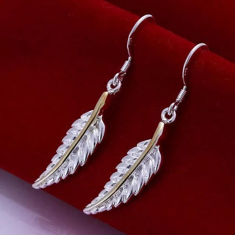 Double Tone Leaf Earring