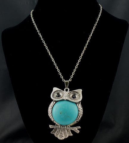 Howlite Owl Pendant Necklace