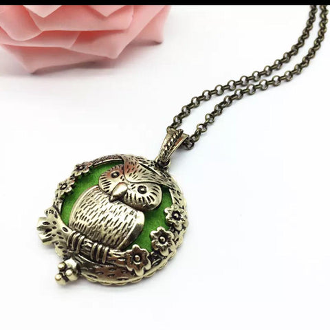 Lucky Owl Oil Diffuser Necklace
