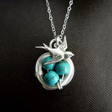 Magpie Bird Nest Necklace