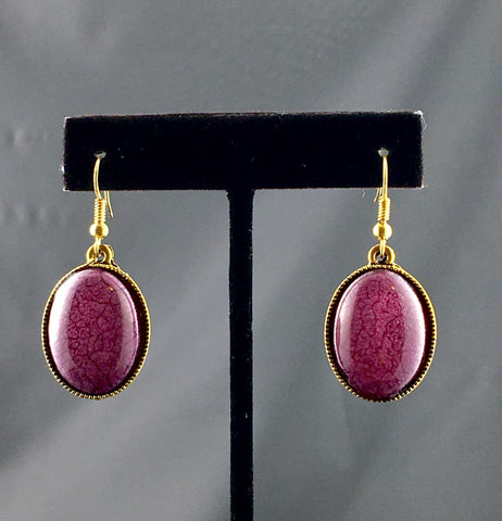 Purple Howlite Earring