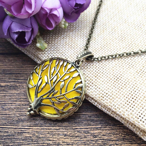 Tree of Life Oil Diffuser Necklace2