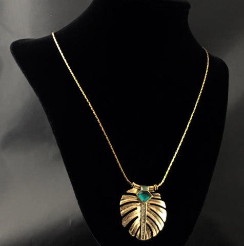 Antique Leaf Necklace