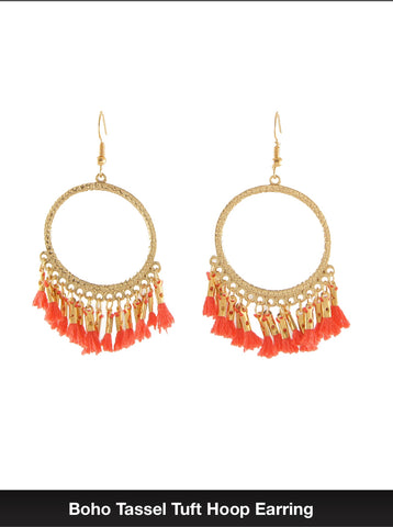 Hoop Orange Tassel