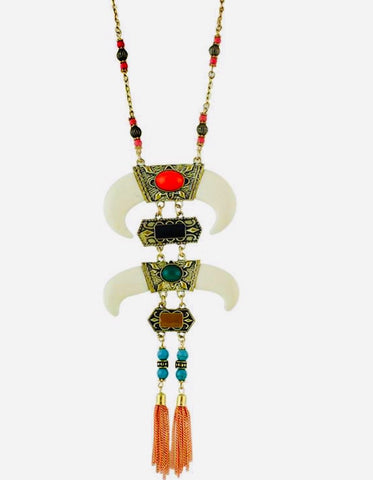 Hornbilltassel Necklace