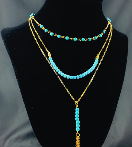Layeredbeaded Necklace