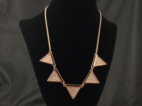 Golden Triangle Necklace