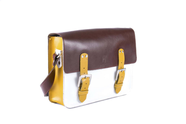 The Harmood in Brown/White with Mango Accents