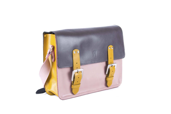 The Harmood in Grey/Baby Pink with Mango Accents