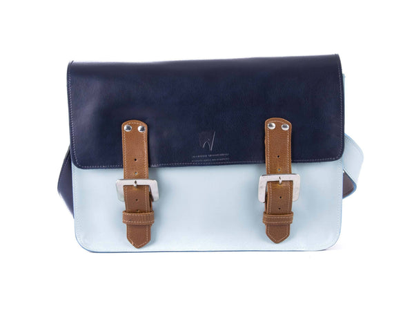 The Harmood in Navy/Baby Blue with Tan Accents