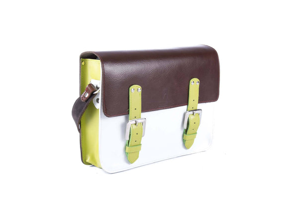 The Harmood in Brown/White with Lime Accents