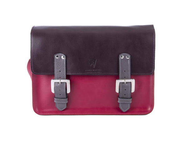 The Harmood in Aubergine/Hot Pink with Grey Accents