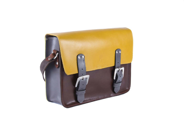 The Harmood in Mango/Brown with Grey Accents