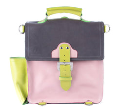 The Hawley in Grey/Baby Pink with Lime Accents