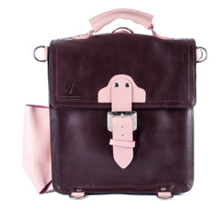 The Hawley in Aubergine with Baby Pink Accents