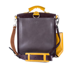 The Hawley in Aubergine/Brown with Mango/Grey Accents