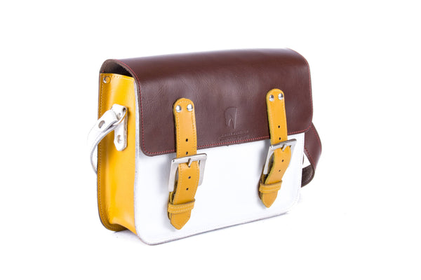 The Albert in Brown/White with Mango Accents