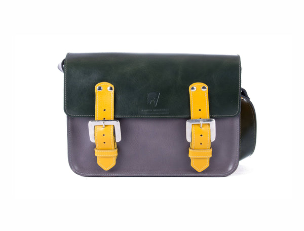 The Albert in Dark Green/Grey with Mango Accents