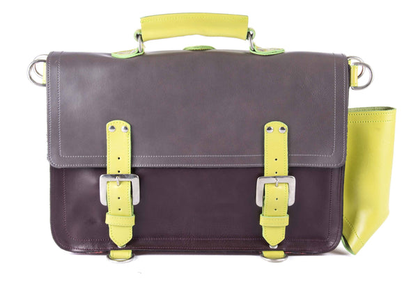 The Caledonian in Grey/Aubergine with Lime Accents