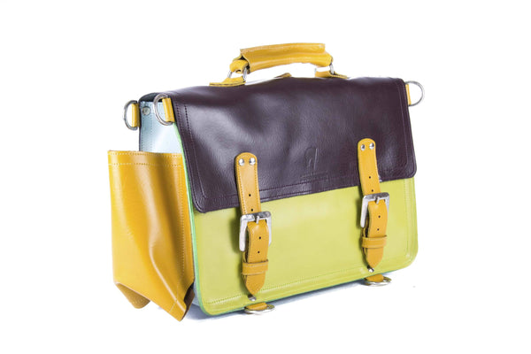 The Caledonian in Aubergine/Lime with Mango Accents
