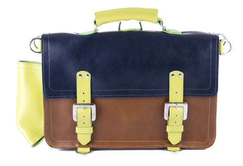 The Caledonian in Navy/Tan with Lime Accents