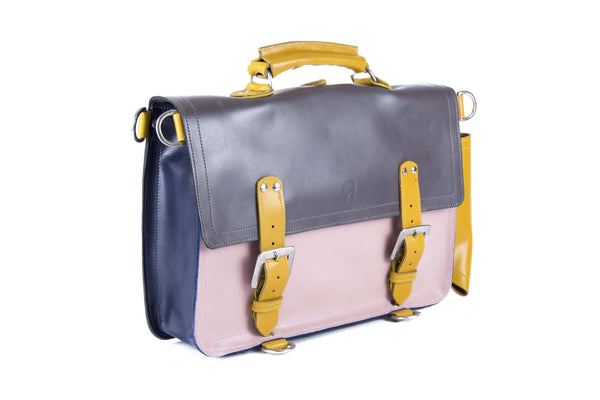 The Caledonian in Grey/Baby Pink with Mango Accents