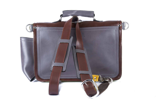 The Caledonian in Brown/Mango with Grey Accents