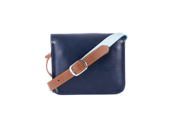 The Chalk Farm in Navy/Baby Blue with Tan Accents