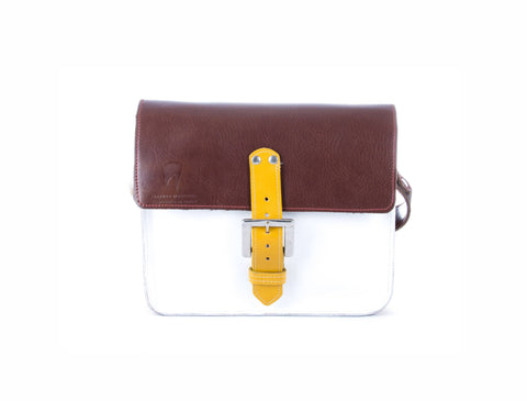 The Chalk Farm in Brown/White with Mango Accents