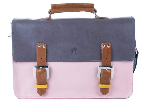 The Inverness in Grey/Baby Pink with Tan/Mango Accents