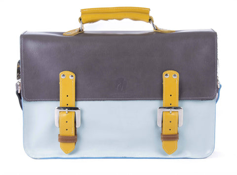 The Inverness in Grey/Baby Blue with Mango/Tan Accents