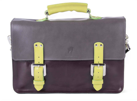 The Inverness in Grey/Aubergine with Lime Accents