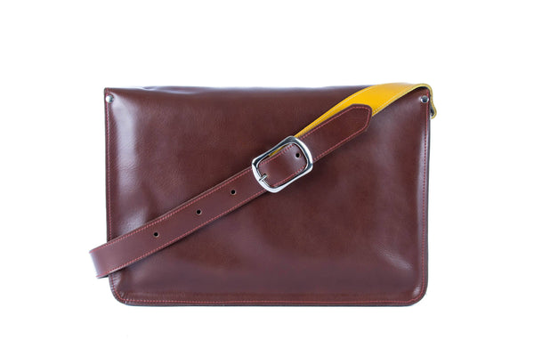 The Arlington in Brown/Mango with Grey Accents