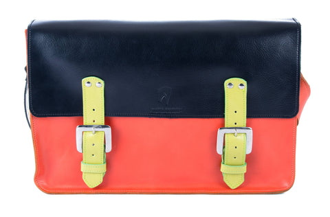 The Arlington in Black/Orange with Lime Accents