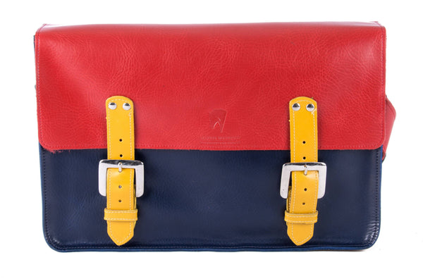 The Arlington in Red/Navy with Mango Accents