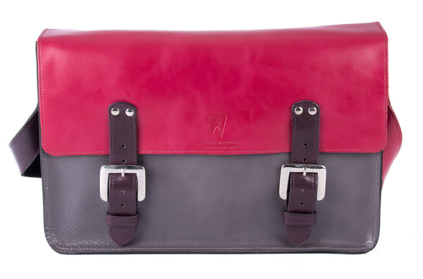 The Arlington in Hot Pink/Grey with Aubergine Accents