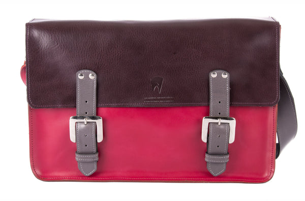 The Arlington in Aubergine/Hot Pink with Grey Accents